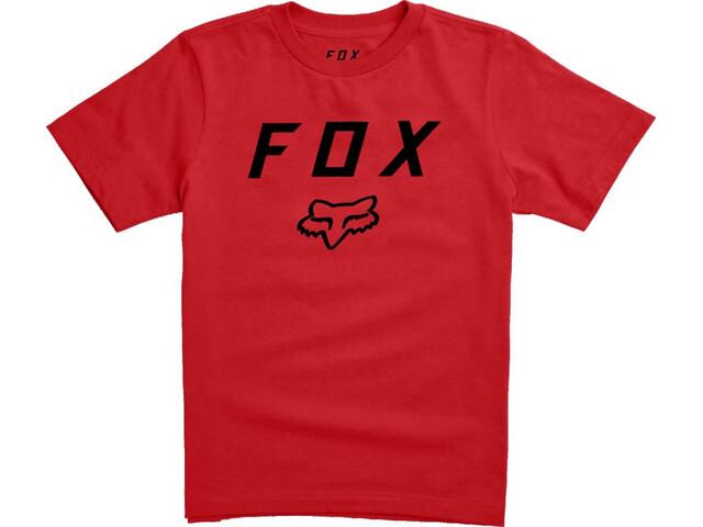 Fox Legacy Moth Short Sleeve T-Shirt Youth dark red